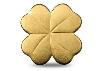 Four Leaf Clover Shaped Gold Coin Reverse