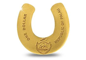 Horse Shoe Shaped Gold Coin Obverse