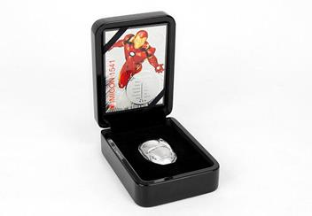 Iron Man Mask Shaped 2Oz Silver Coin In Display Case