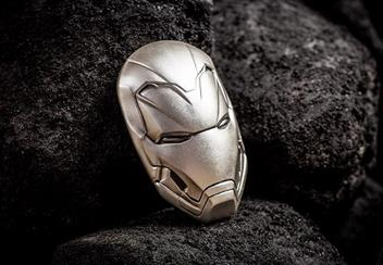 Iron Man Mask Shaped 2Oz Silver Coin Lifestyle
