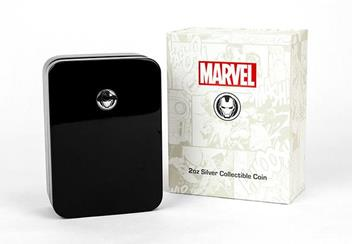 Iron Man Mask Shaped 2Oz Silver Coin Packaging