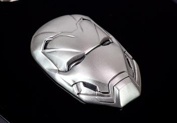 Iron Man Mask Shaped 2Oz Silver Coin Reverse6