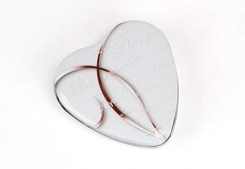 2019 Valentines Day Heart Shaped Silver Proof Coin Display Tin