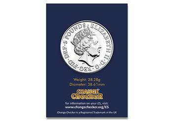 At Change Checker Queens Beasts Yale Of Beaufort Bu 5 Pound Coin Product Images Pack Back 1