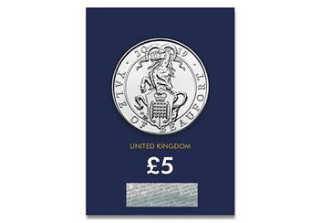 At Change Checker Queens Beasts Yale Of Beaufort Bu 5 Pound Coin Product Images Pack Front 1