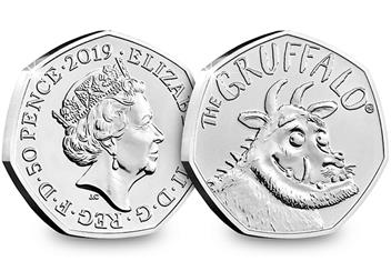 At 2019 Gruffalo 50P Coin Brilliant Uncirculated Obverse Reverse 1