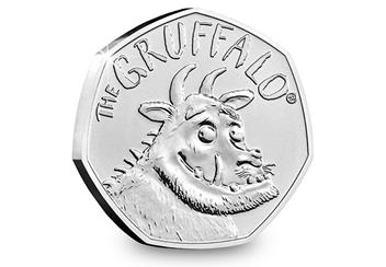 At 2019 Gruffalo 50P Coin Brilliant Uncirculated Reverse 1