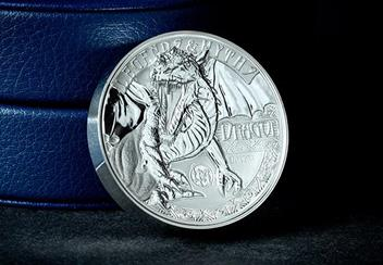 2018 Dragon Ultra High Relief Silver Proof Coin Reverse Lifestyle