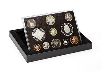 Uk 2008 Annual Bu Proof Coin Set In Display Case
