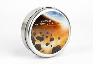2018 Erfoud Meteorite Copper Plated Silver Coin Display Case