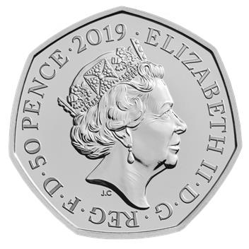 Beatrix Potter 2019 Uk 50P Brilliant Uncirculated Coin Common Obv
