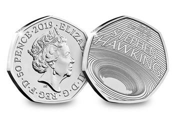 Stephen Hawking 50P Bu Product Page Images Obverse Reverse