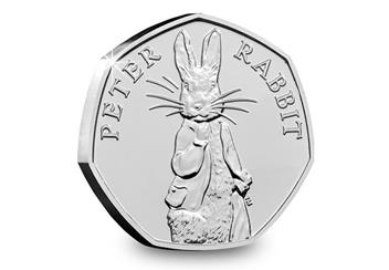 Peter Rabbit 2019 50P Product Page Coin Reverse