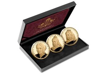 Dn Victoria 200Th Birthday Cuni Gold 5 Three Coin Set Product Set