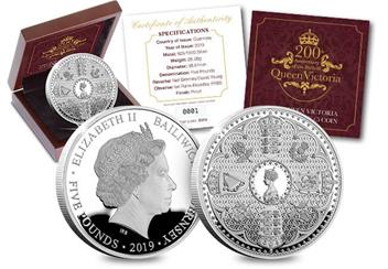 Victoria 200Th Birthday Silver Proof Five Pound Coin