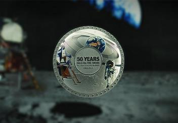 Moon Landing 50Th Concave Silver Proof Coin Lifestyle1