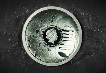 Moon Landing 50Th Concave Silver Proof Coin Lifestyle2
