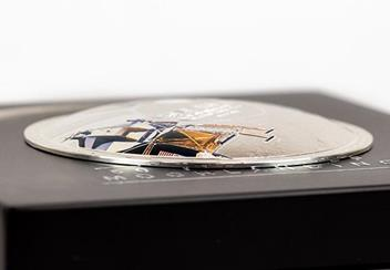 Moon Landing 50Th Concave Silver Proof Coin Reverse Flat