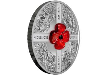 RCM Murano Glass Poppy Remembrance Coin reverse-side.png