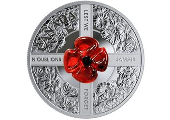 RCM Murano Glass Poppy Remembrance Coin reverse.png