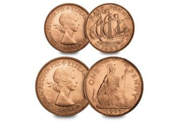 UK-1953-coronation-coin-and-stamp-set-half-penny-and-penny.jpg