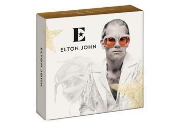Elton John 1oz Silver coin outer packaging