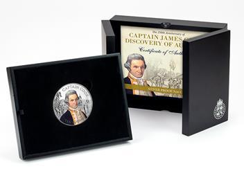 2020 Captain Cook 5oz Silver Proof with Colour BOX.jpg