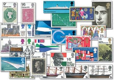 Royal Mail 1969 and 1970 Mint Stamp Collection 2