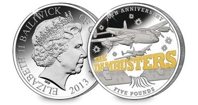 The Dambusters Silver £5 Coin