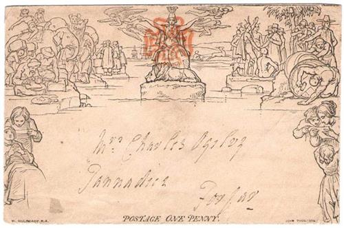 1840 Penny Black Mulready Envelope (1)