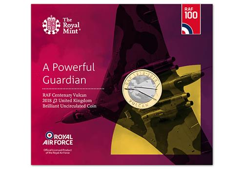 Raf Vulcan Bu 2 Pound Coin Royal Mint Pack 1