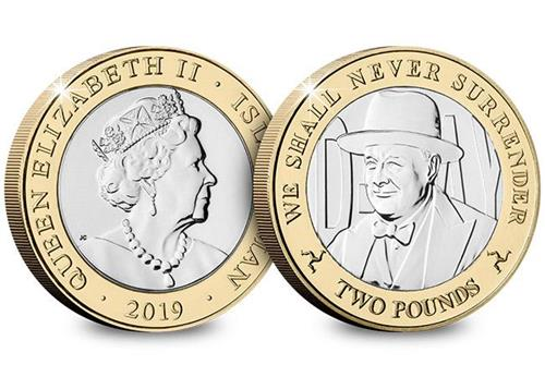 D Day 75Th Churchill Cuni Bu Two Pound Coin Obverse Reverse