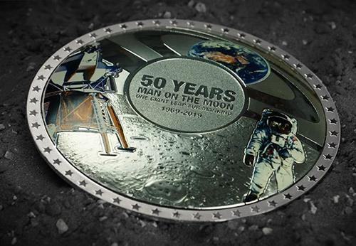 Moon Landing 50Th Concave Silver Proof Coin Lifestyle4