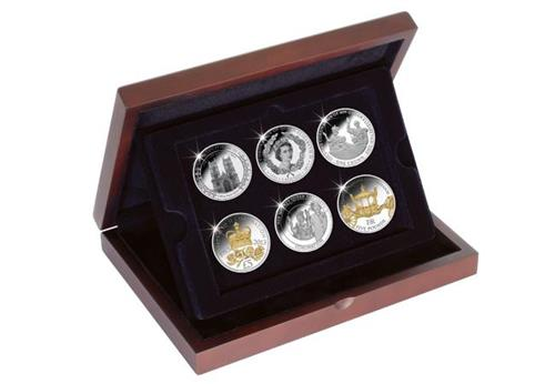 Deluxe Wooden Display Case for 6 Crowns