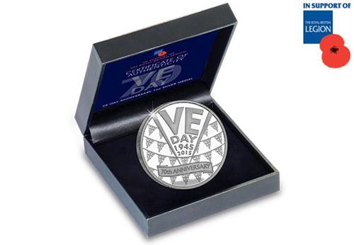 VE Day Silver Medal