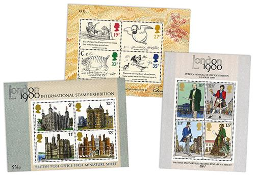 900J - Britain's First Multi-value Miniature Sheets (1)