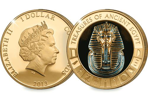 Ancient Egypt Tutankhamun Gold-Plated Coin
