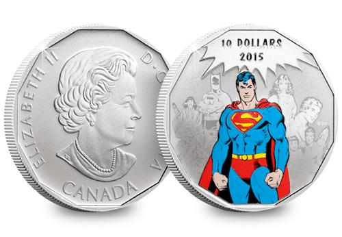 Full Colour Superman Coin Obverse/Reverse