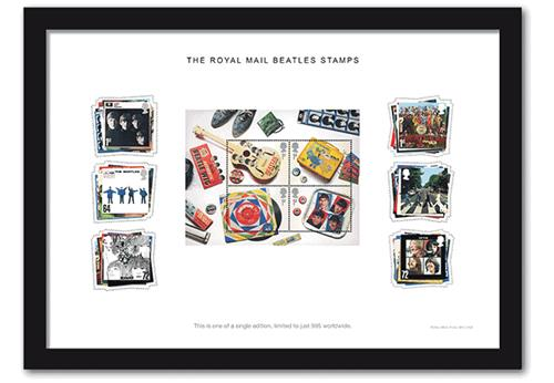 Beatles Limited Edition Framed Collector Card
