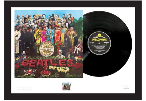 Sgt Pepper Stamp and Vinyl Framed Edition