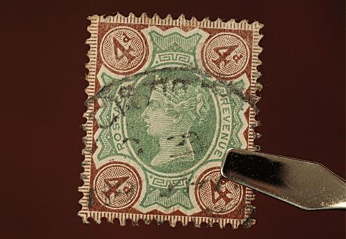 4d Green and Brown stamp