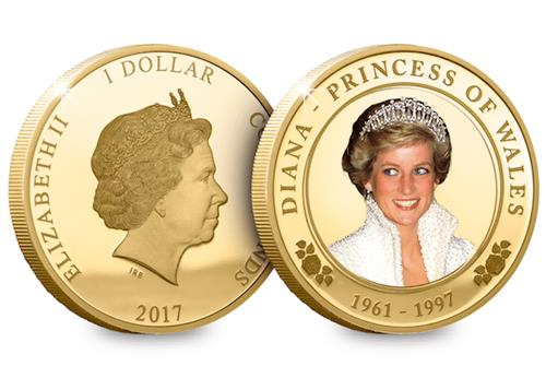 Princess Diana Photographic Starter Coin Both Sides