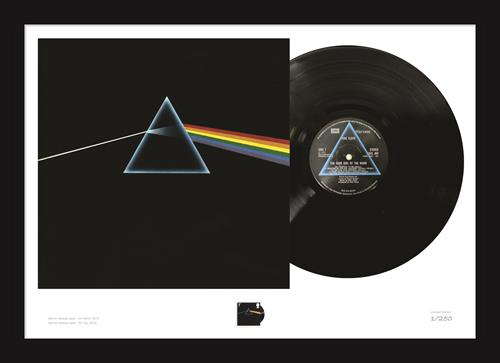 Dark Side of the Moon Stamp and Vinyl Frame