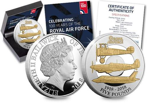 RAF Centenary Five Pound Proof Coin