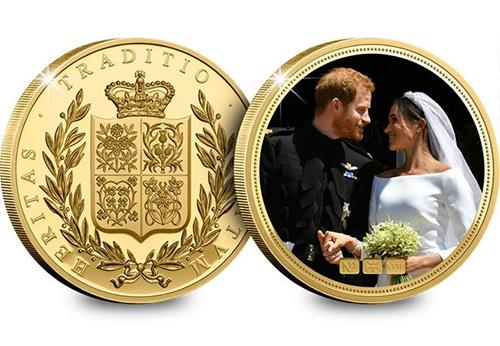 Harry and Meghan Gold Plated NumisProof