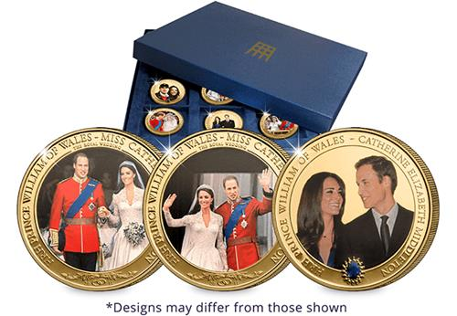 William And Kate 12 Coin Set In Box