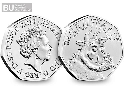 At 2019 Gruffalo 50P Coin Brilliant Uncirculated Obverse Reverse Logo 1